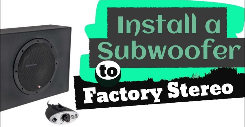 How to Install a Powered Subwoofer to a Factory Stereo?