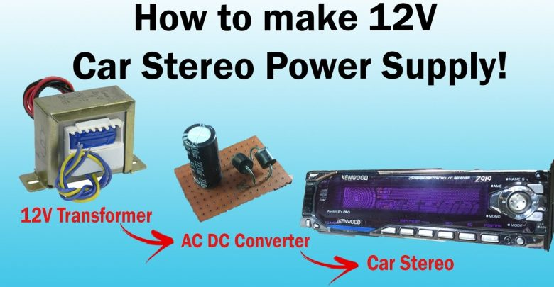 How to Power a Car Stereo with a Battery Charger?