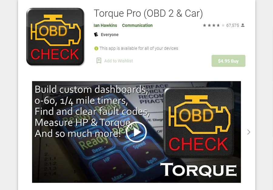 Best App for Android Car Stereo - Torque Pro